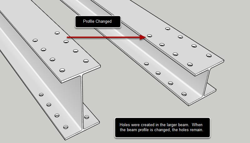 Holes in Profile Members are Parametric